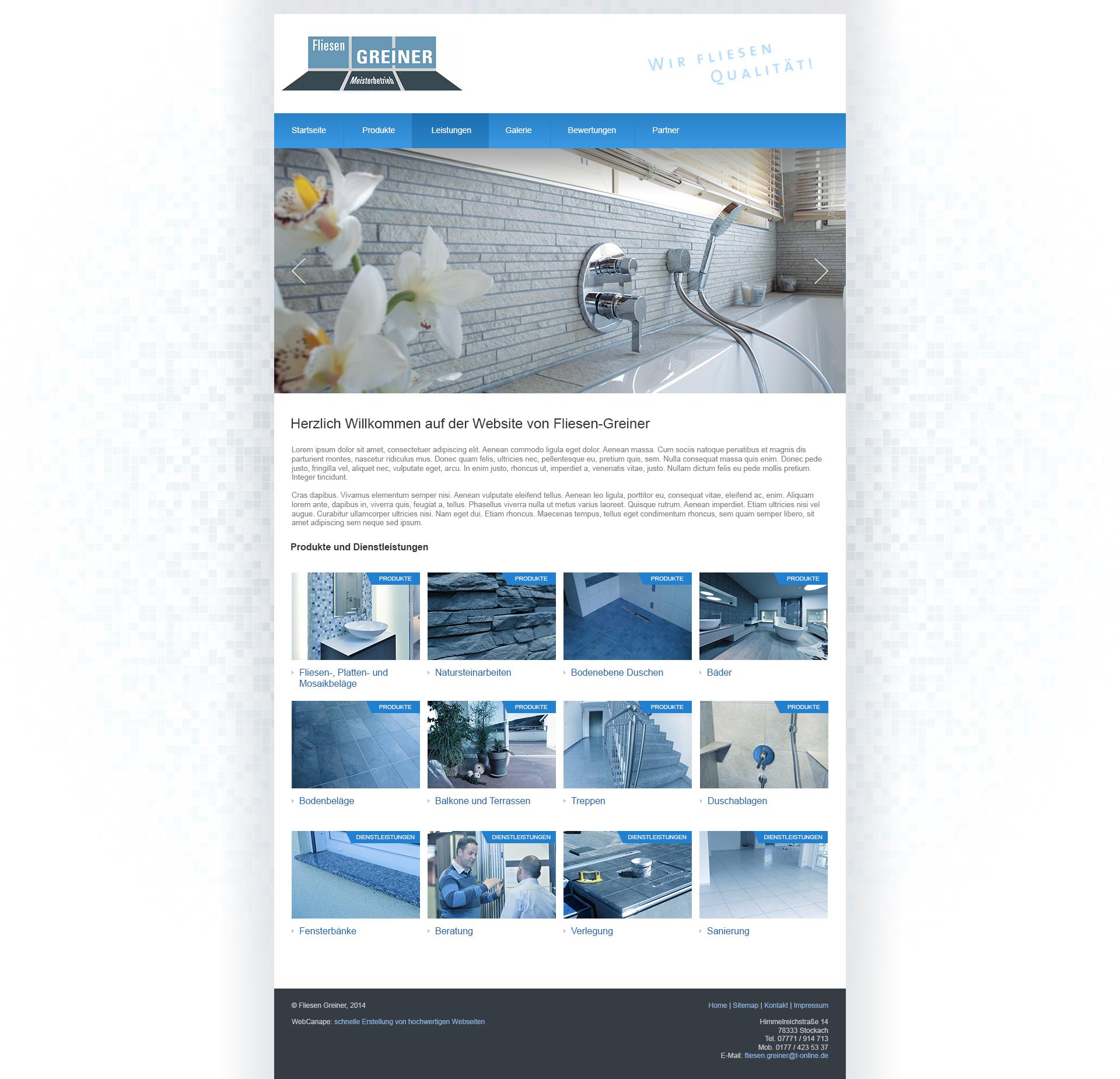 Создание сайта для отделочной компании